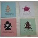 Cartes de Noël avec des matériaux recyclés faites par Zoénabou Savadogo