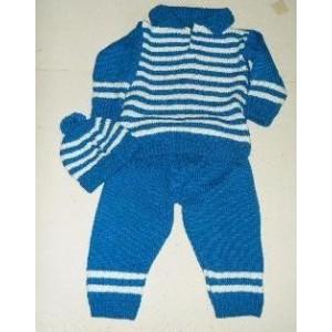 Boys' blue stripe trouser & jumper set by Zoénabou Savadogo: