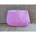 Grande trousse de toilette rose, par Rasmata Zongo
