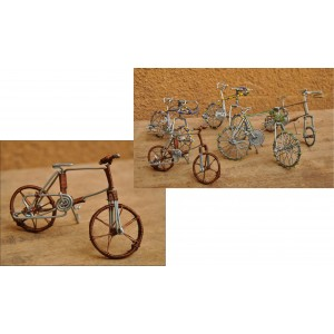 Vélo recyclé par fabriqué Moise Kargougou