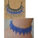 Bracelet de Cheville avec Boucles d'Oreilles par Rasmata Ouédraogo