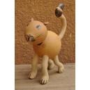Un chat qui bouge la tête fabriqué par Evariste Sorgho & Séni Sawadogo