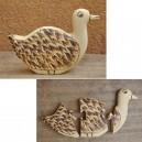 Puzzle d'un canard pyrogravé par Evariste Sorgho