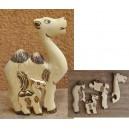 Puzzle d'un chameau pyrogravé par Evariste Sorgho
