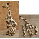 Puzzle d'une girafe pyrogravé par Evariste Sorgho