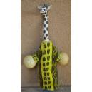 Marionnette maniable à la main en forme d'une girafe faite par Evariste Sorgho & Yacouba Tapsoba