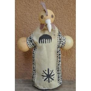Marionnette maniable à la main en forme d'un coq faite par Evariste Sorgho & Yacouba Tapsoba