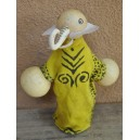 Marionnette maniable à la main en forme d'un éléphant faite par Evariste Sorgho & Yacouba Tapsoba