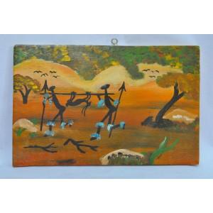 Tableau peint par Hamidou Kaboré