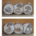 Sous-plats fabriqués par Evariste Sorgho