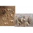 Porte-clés en bois par Hamidou Kaboré
