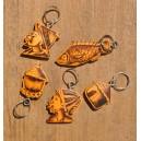 Porte-clés en calebasse par Hamidou Kaboré