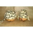 Grand sac en calebasse avec un cordon confectionné par Zoénabou Savadogo